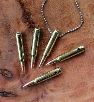 223 jewelry bullet necklace